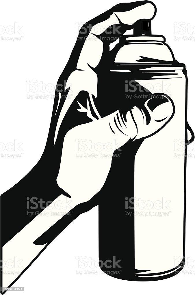 Hand Holding Spray Paint royalty-free stock vector art