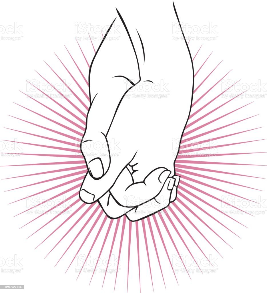 Hand holding royalty-free stock vector art