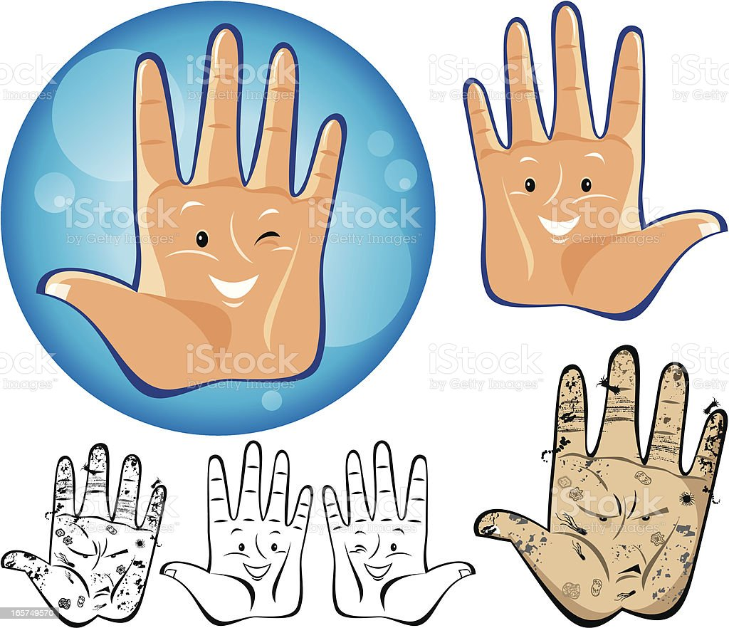 Hand Hygiene vector art illustration