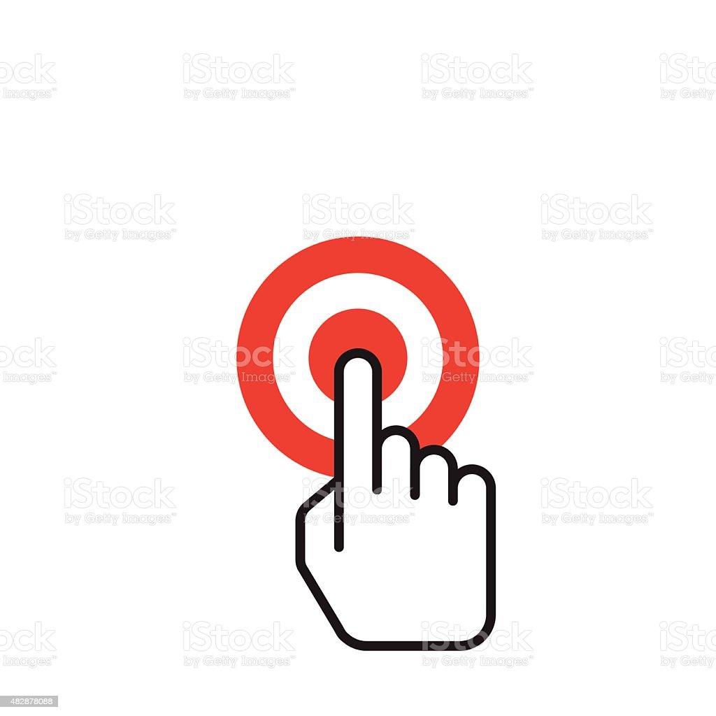 Hand icon pointer : vector vector art illustration