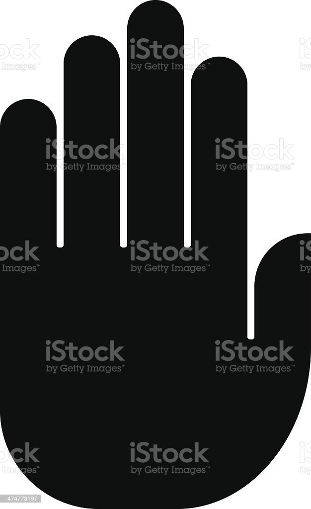 Hand icon vector art illustration