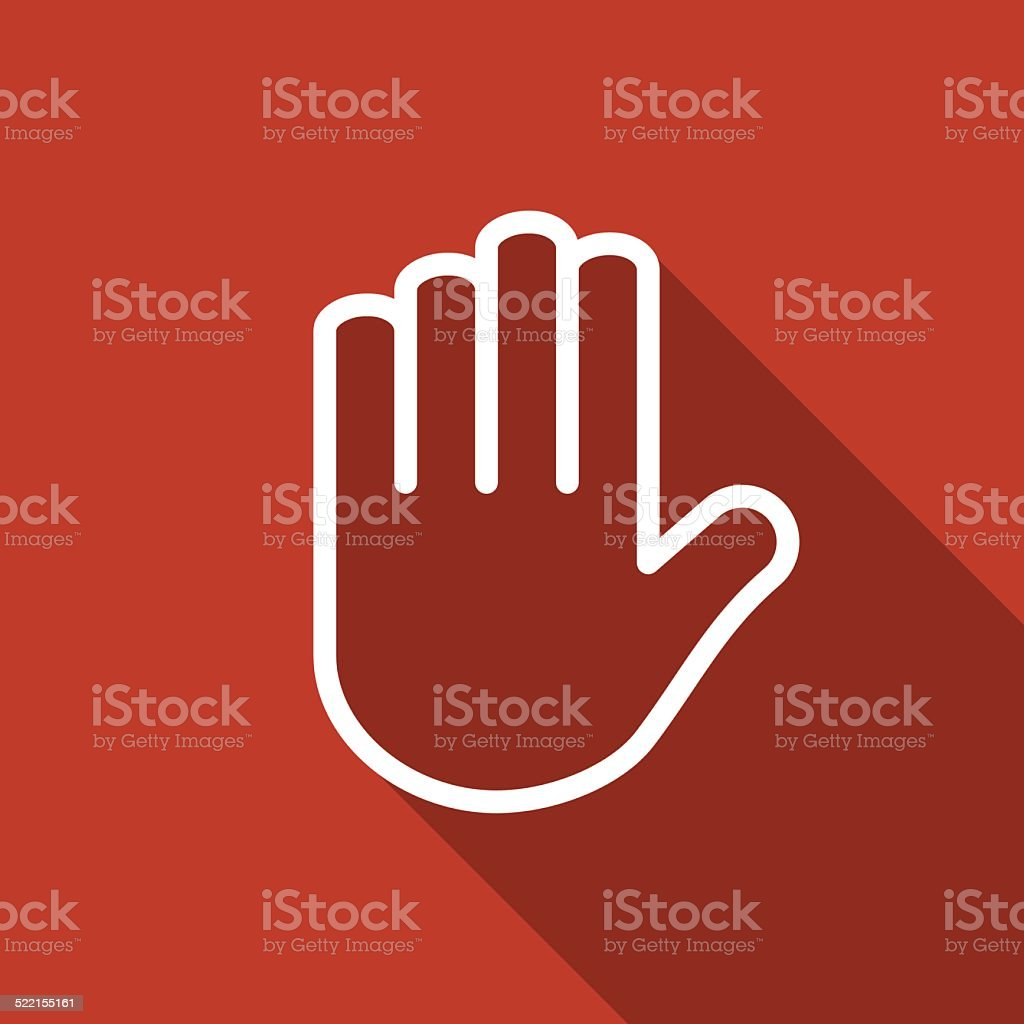 hand icon vector art illustration