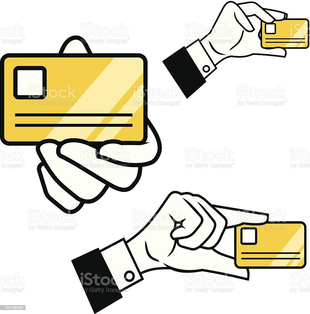 Hand ID royalty-free stock vector art