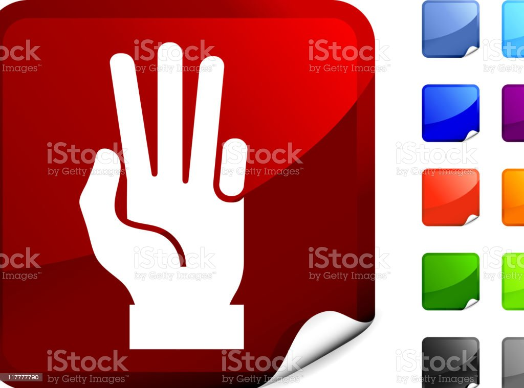 hand (three count) internet royalty free vector art royalty-free stock vector art