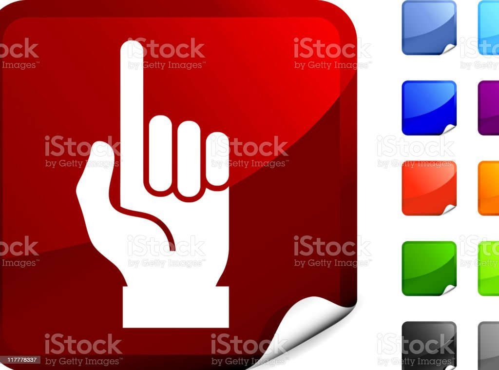 hand (one count) internet royalty free vector art royalty-free stock vector art