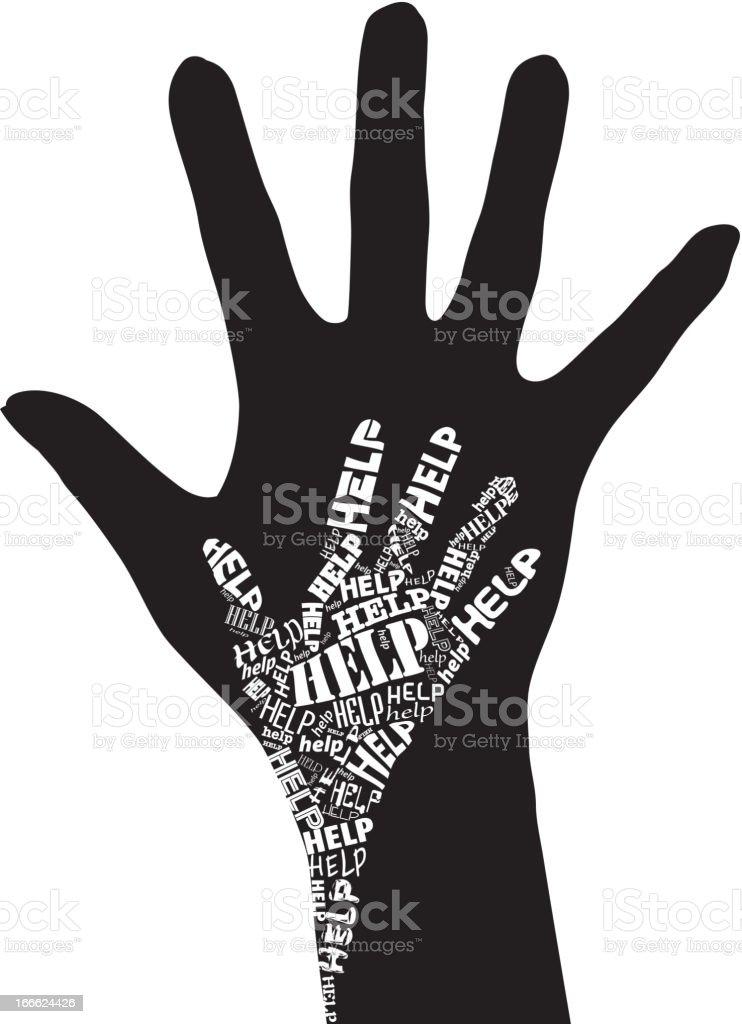 Hand of Help royalty-free stock vector art