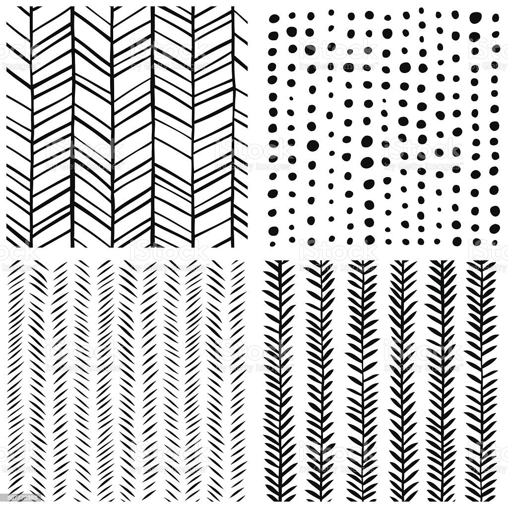Hand Painted Abstract Patterns vector art illustration
