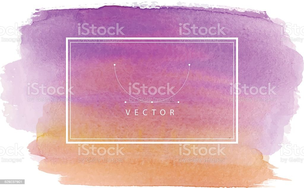 Hand painted watercolor texture vector art illustration