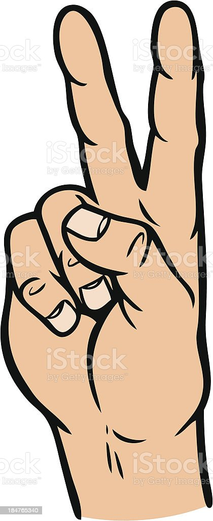 Hand Peace Sign royalty-free stock vector art