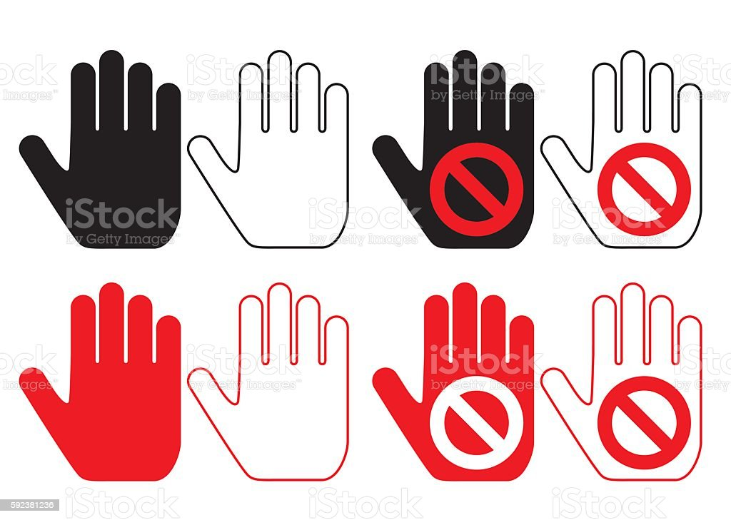 hand pictogram set vector art illustration