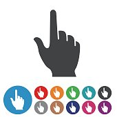 Hand Pointer Icons - Graphic Icon Series