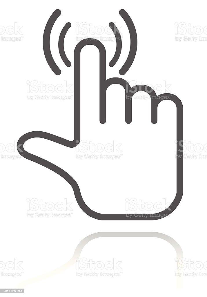 hand pointer vector art illustration