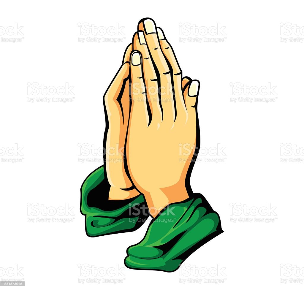 vector illustration of hand prayer
