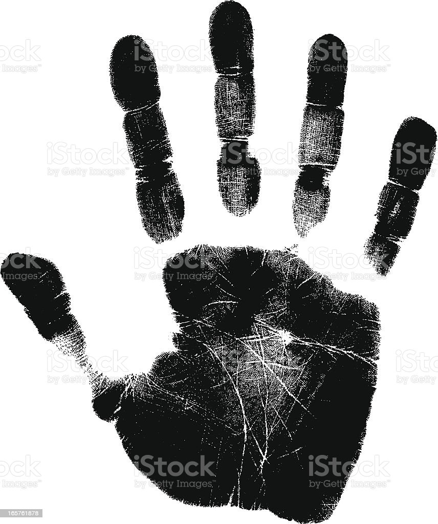 hand print royalty-free stock vector art
