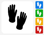 Hand Prints Icon Flat Graphic Design