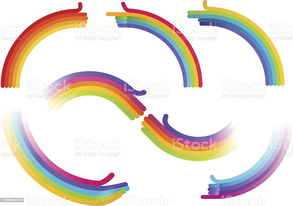 Hand Rainbow vector art illustration