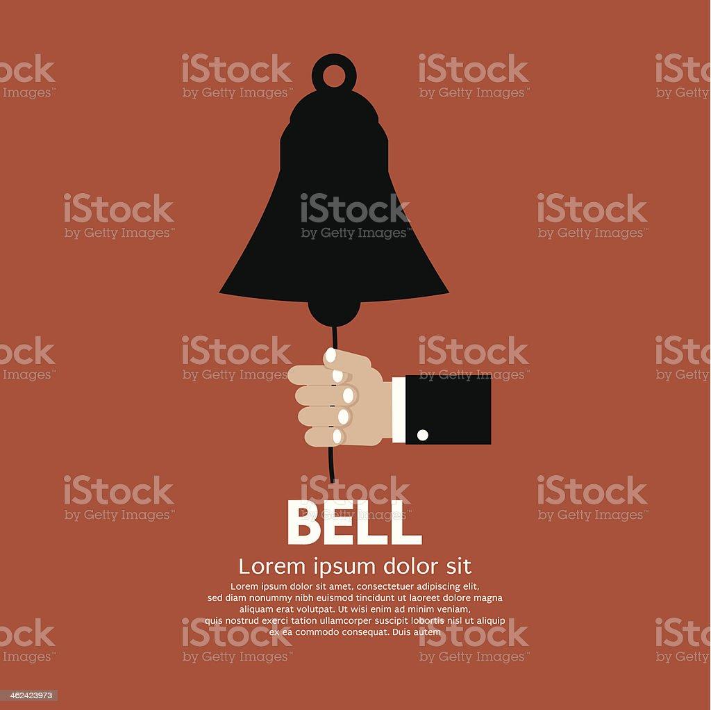 Hand Ring A Bell. vector art illustration