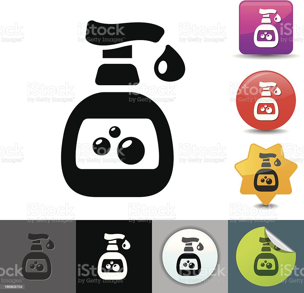 Hand sanitizer icon | solicosi series royalty-free stock vector art