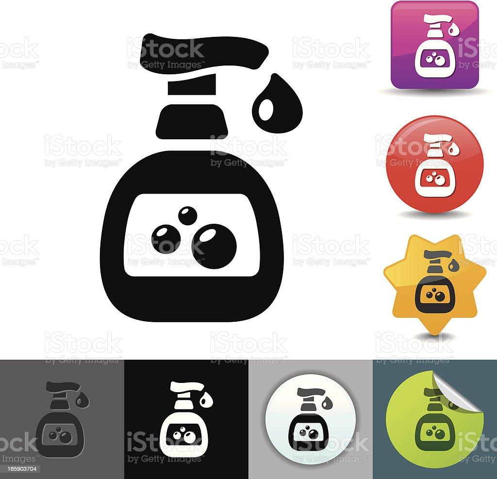 Hand sanitizer icon | solicosi series vector art illustration