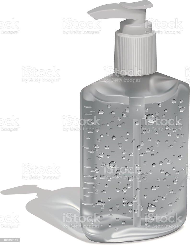 Hand Sanitizer in Pump Bottle vector art illustration