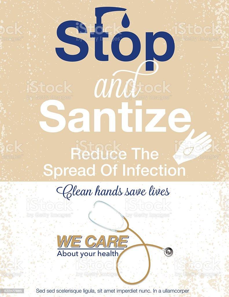 Hand Sanitizer Poster vector art illustration