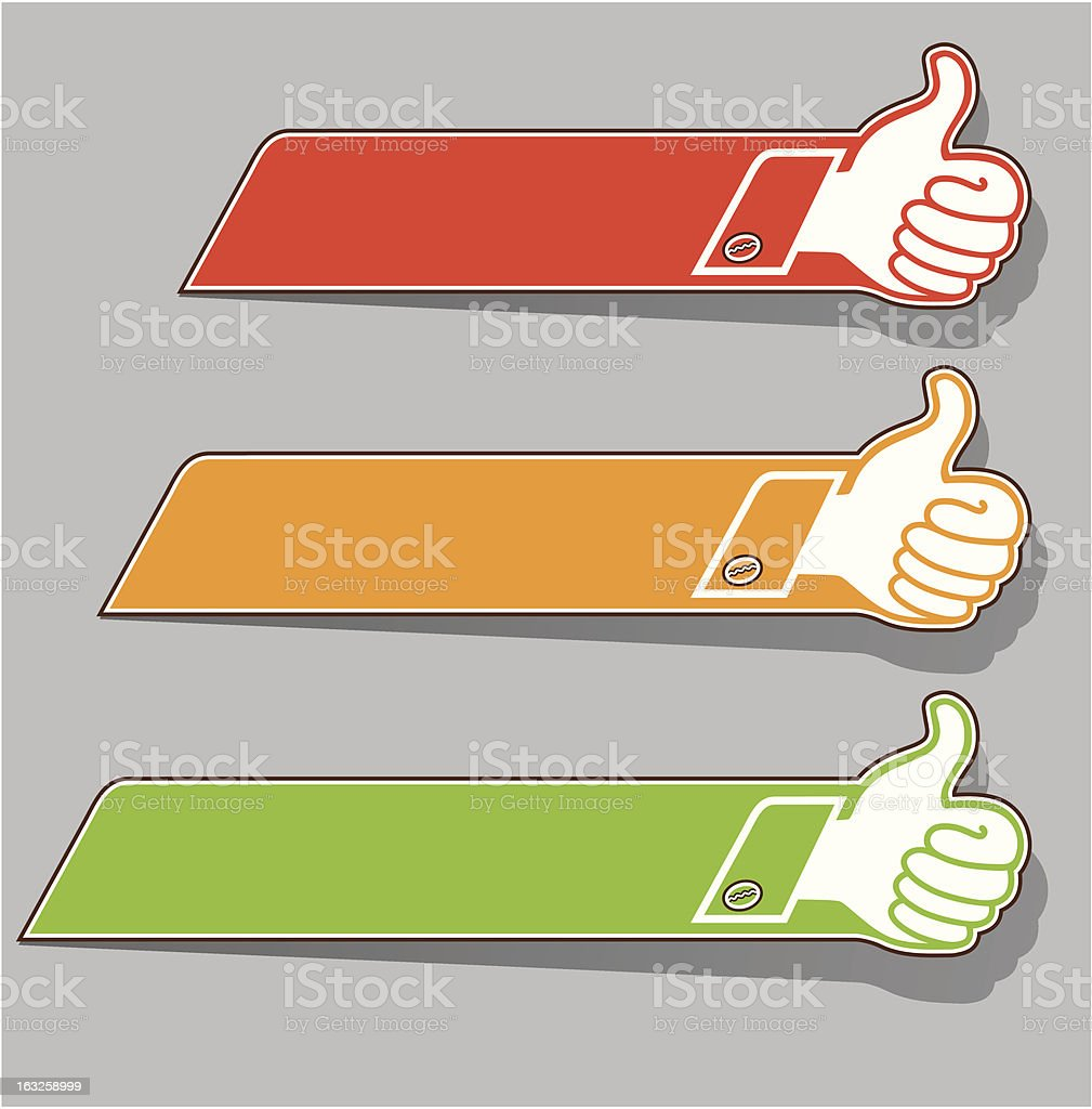 hand showing OK sign royalty-free stock vector art