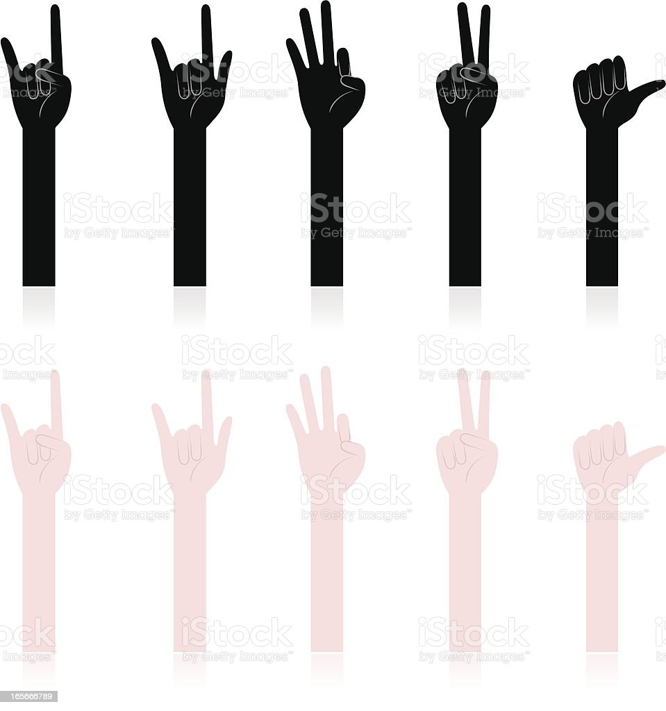 Hand Sign, Gesturing vector art illustration