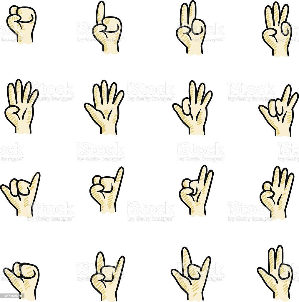 Hand Sign vector art illustration