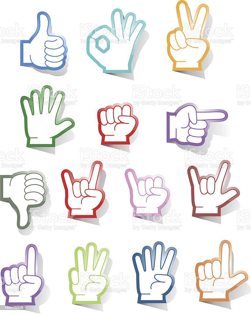 Hand Signs royalty-free stock vector art