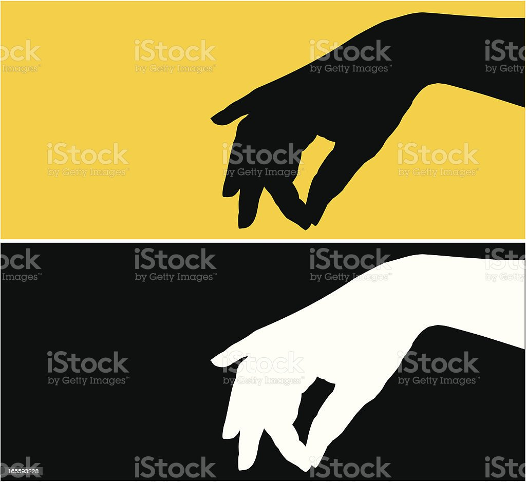 Hand Silhouette vector art illustration