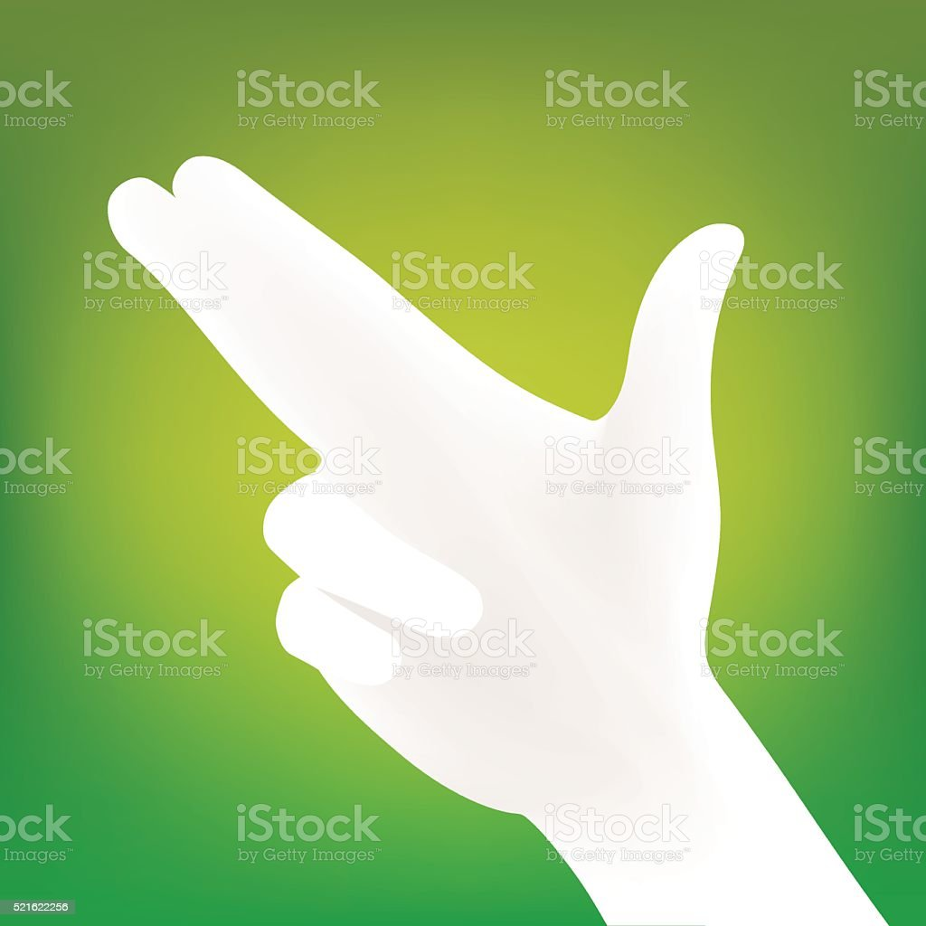 Hand silhouette vector vector art illustration