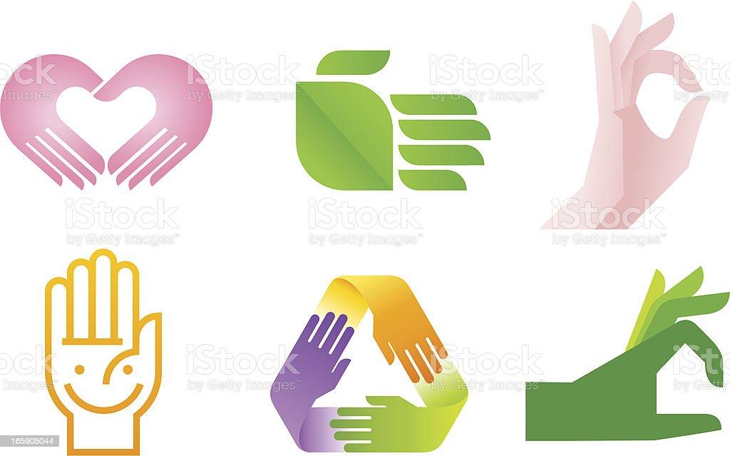 Hand Symbol royalty-free stock vector art