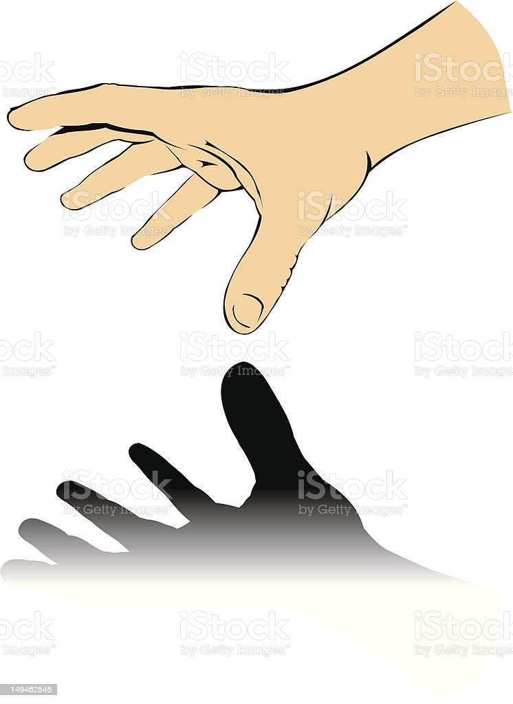 Hand taking something. vector art illustration
