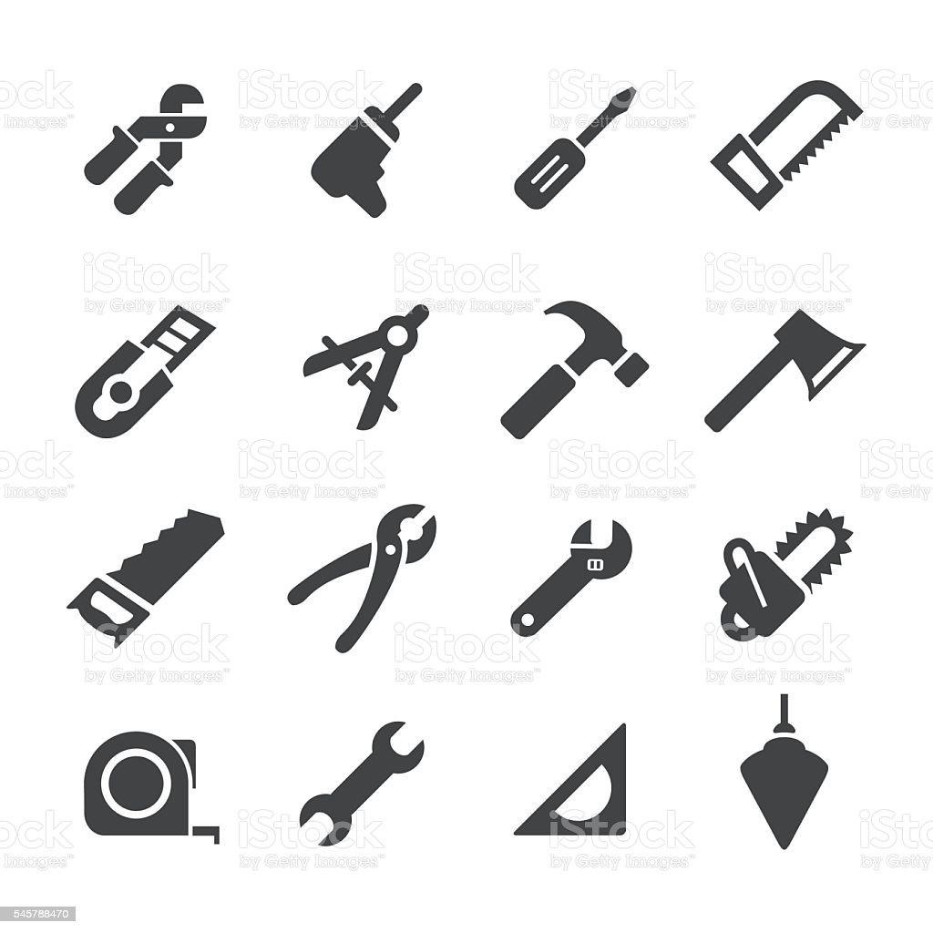 Hand Tool Icons - Acme Series vector art illustration