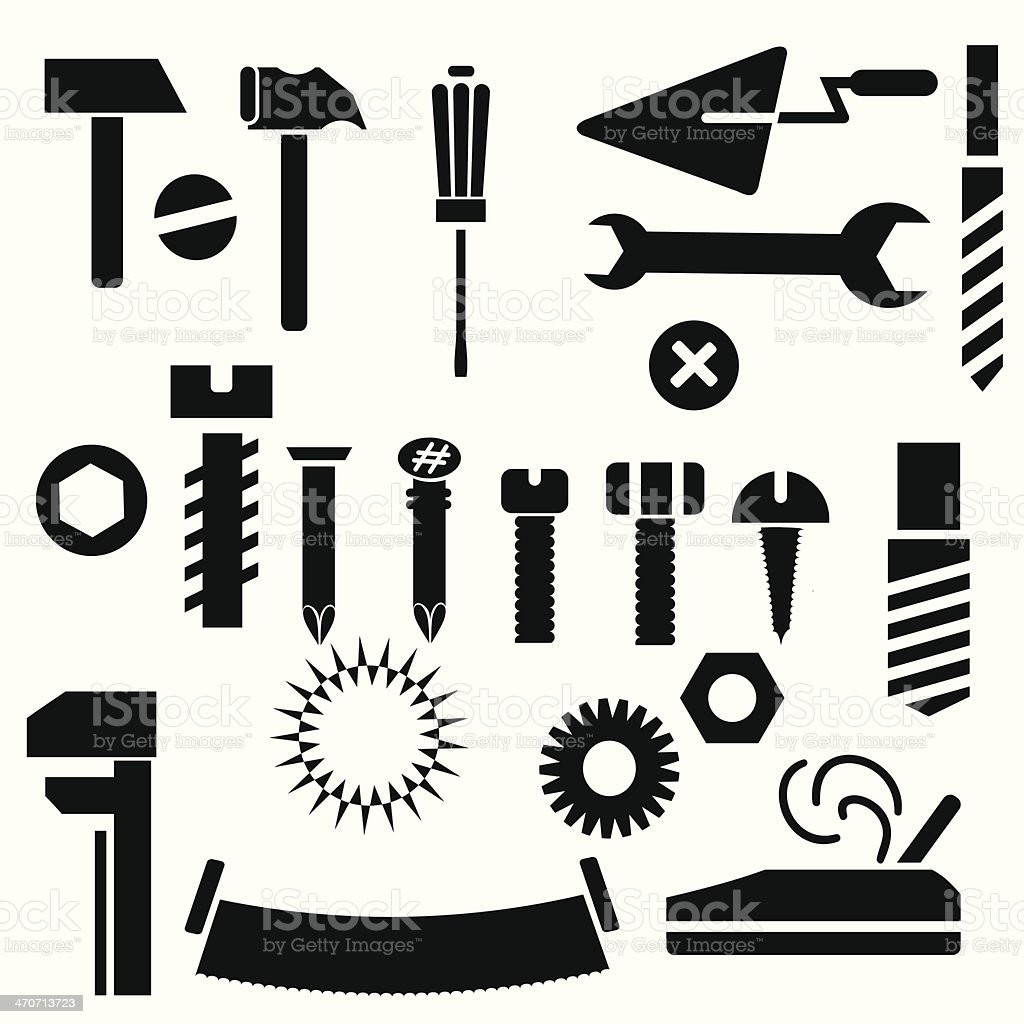hand tools royalty-free stock vector art