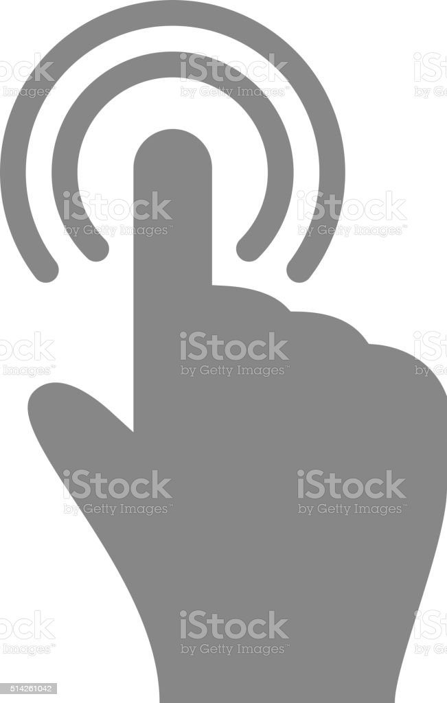 Hand touch tap gesture icon for apps and websites vector art illustration