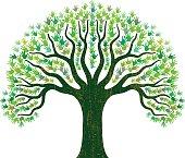 Hand tree illustration