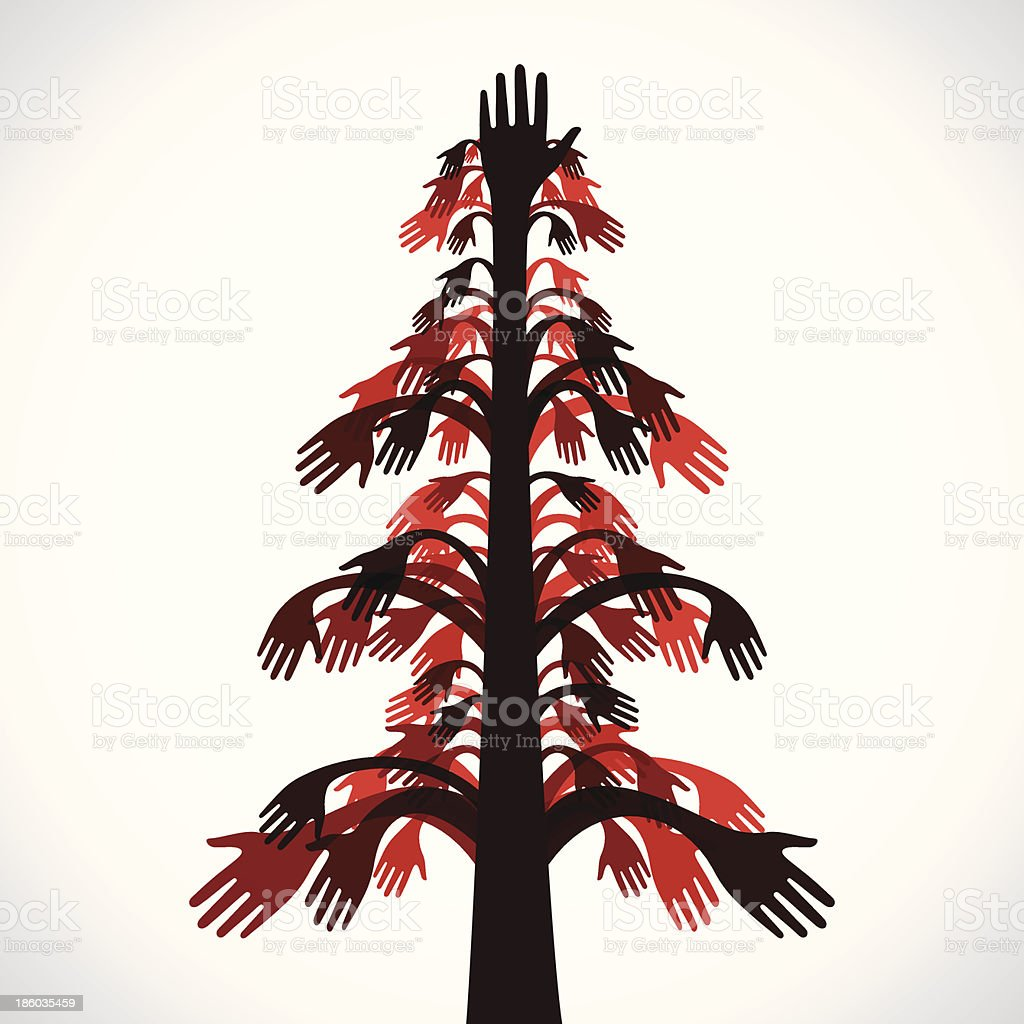 hand tree royalty-free stock vector art