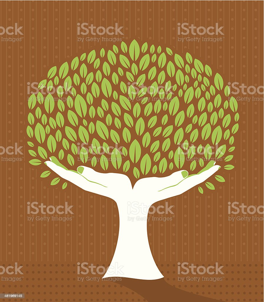 Hand tree royalty-free stock vector art
