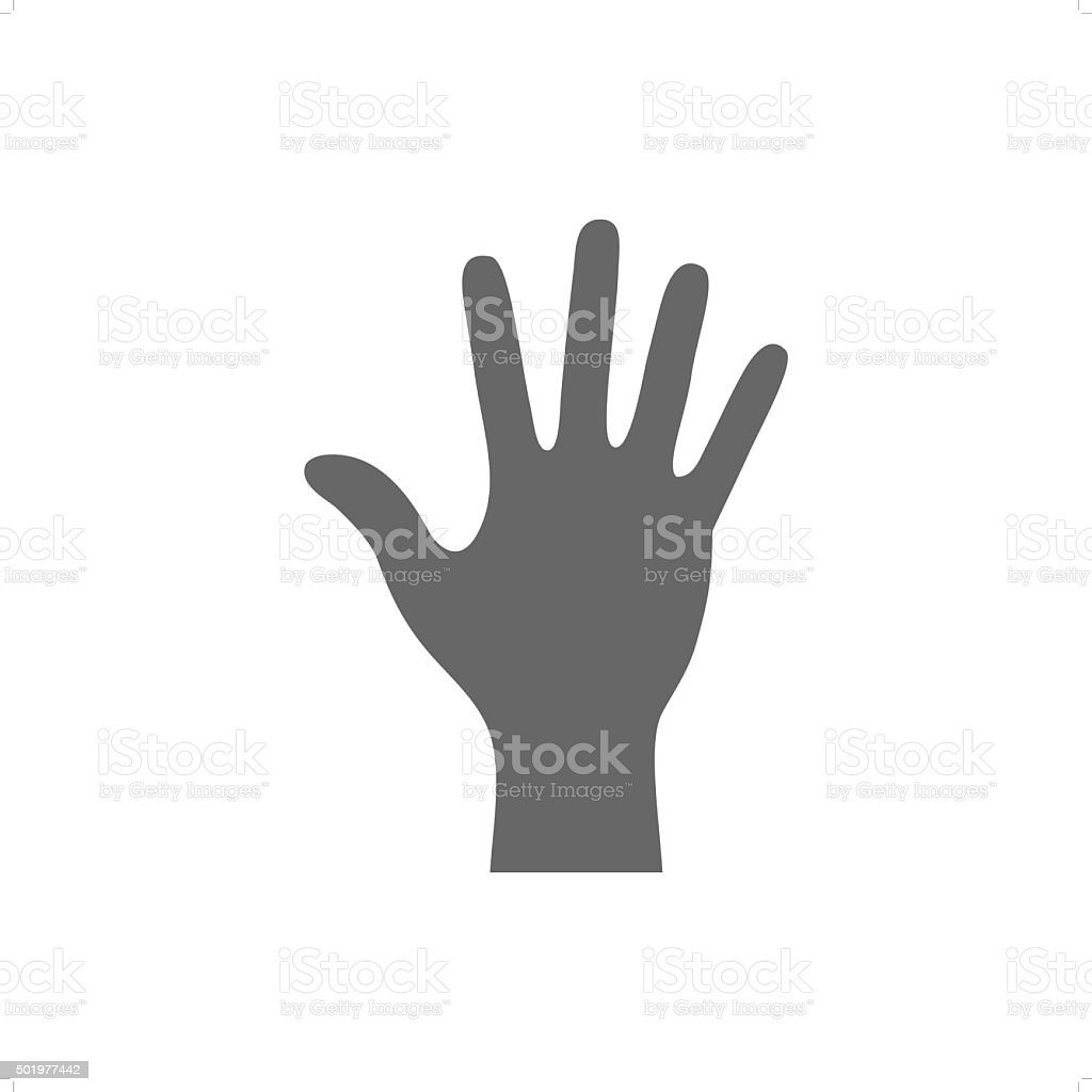 Hand vector art illustration