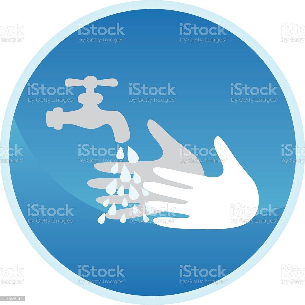 Hand washing sign vector art illustration