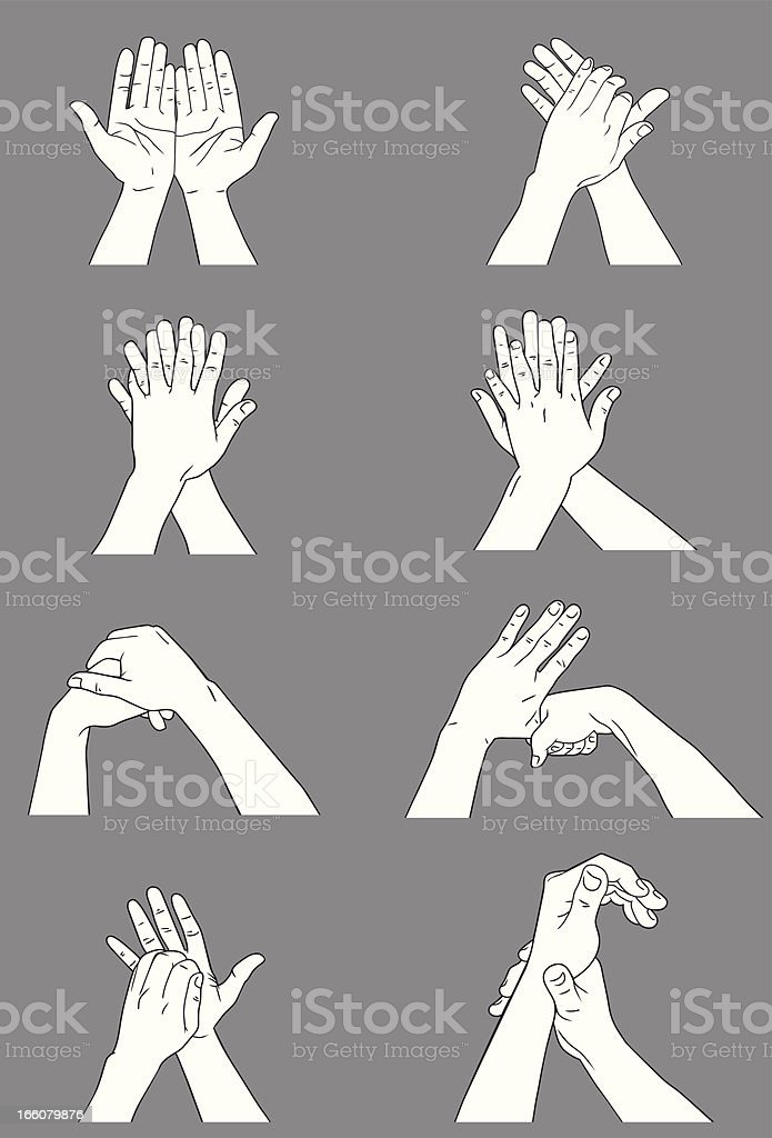 Hand Washing vector art illustration