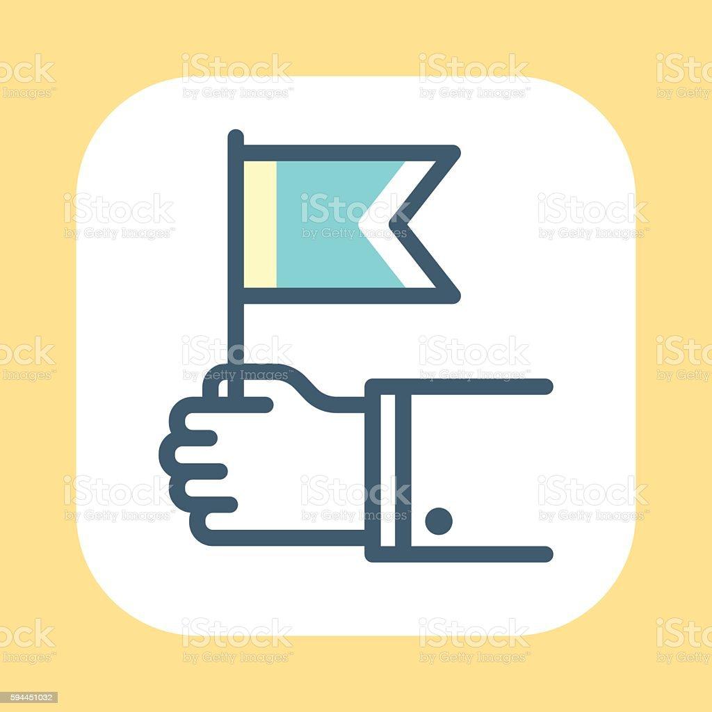 Hand Waving Symbol vector art illustration