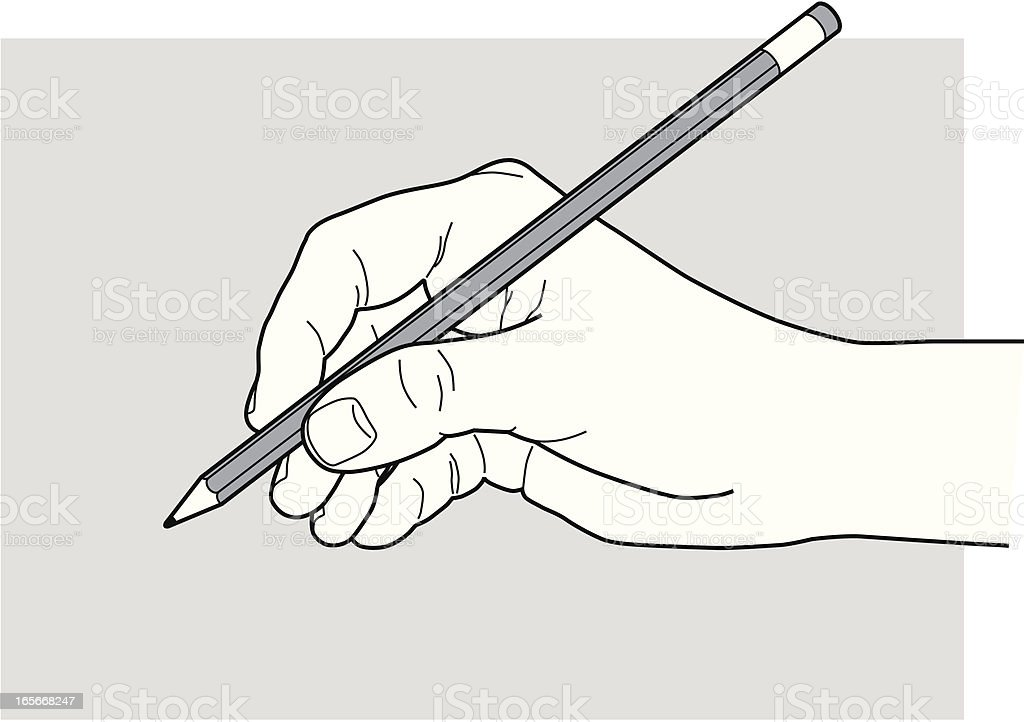 Hand with a pencil royalty-free stock vector art