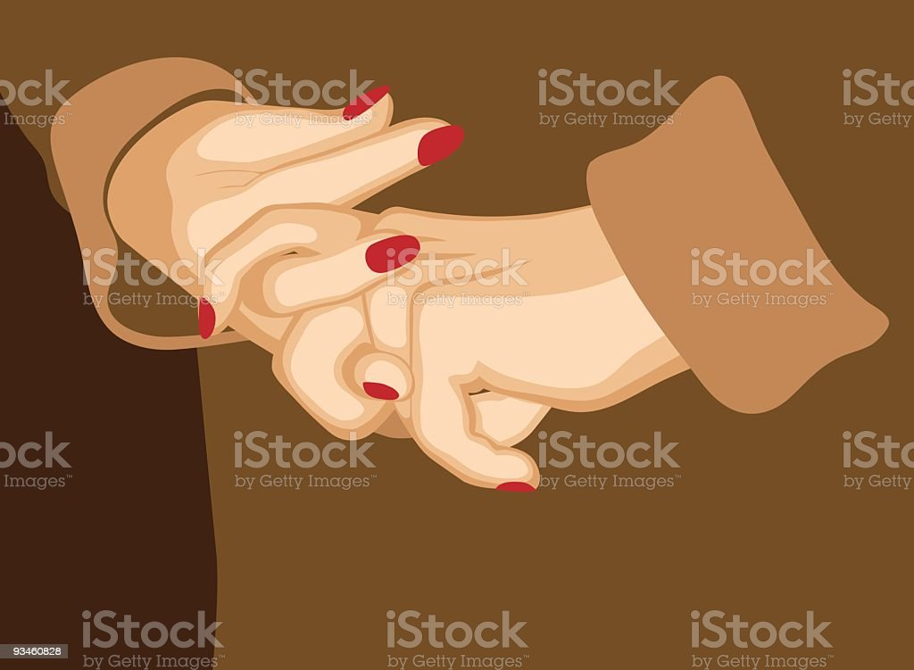 Hand Wringing vector art illustration