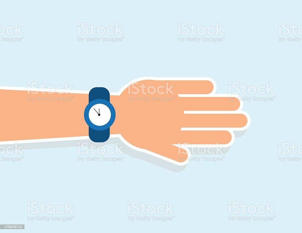 Hand Wrist Watch vector art illustration