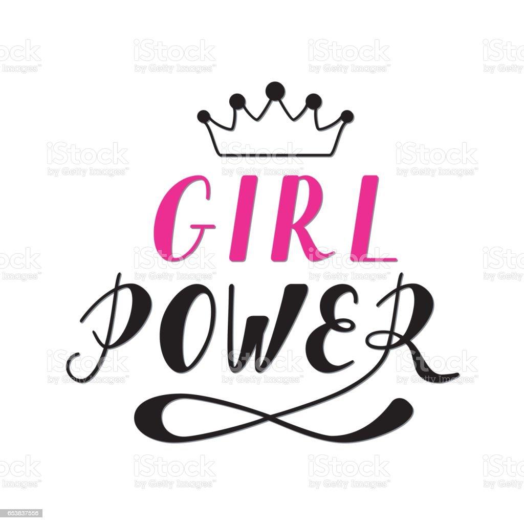 Hand Written Lettering Girl Power Stock Vector Art