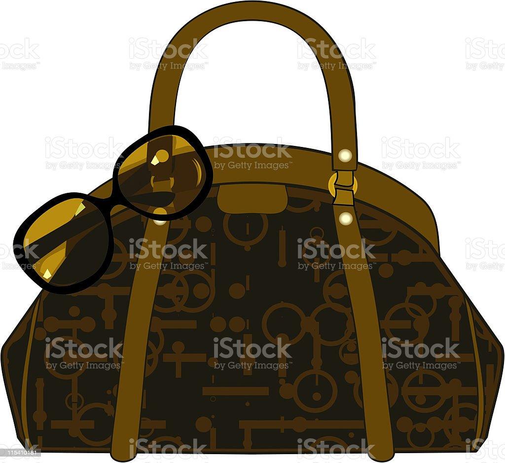 Handbag vector art illustration