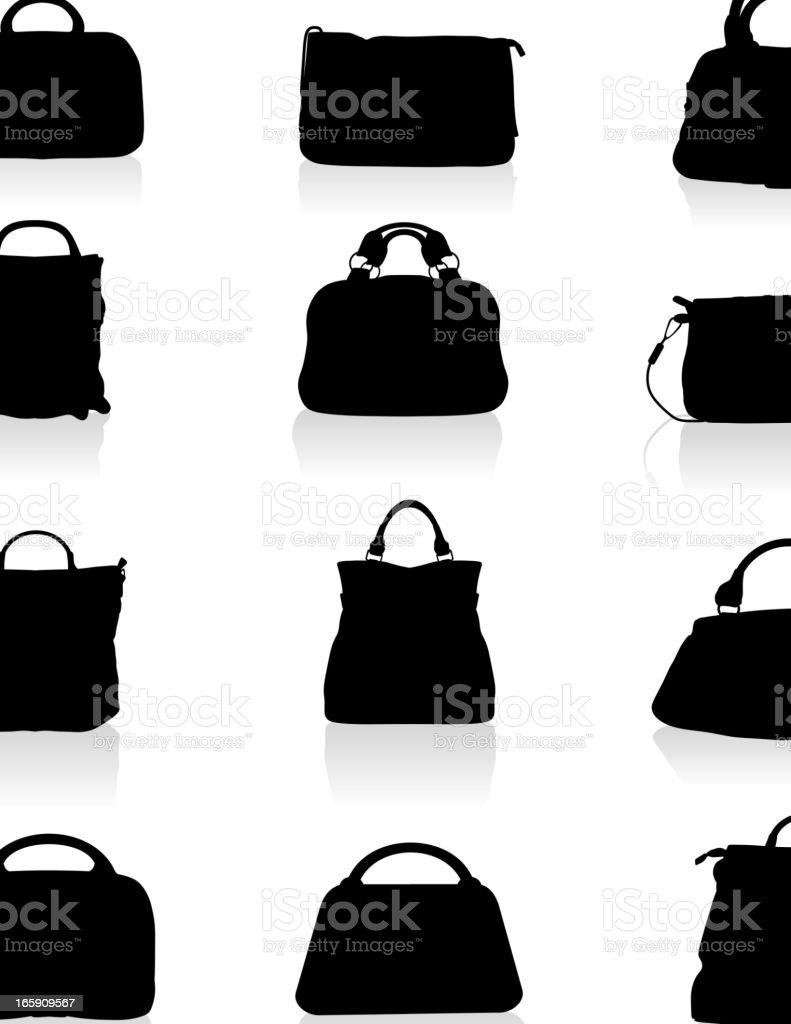 Handbags Silhouette royalty-free stock vector art