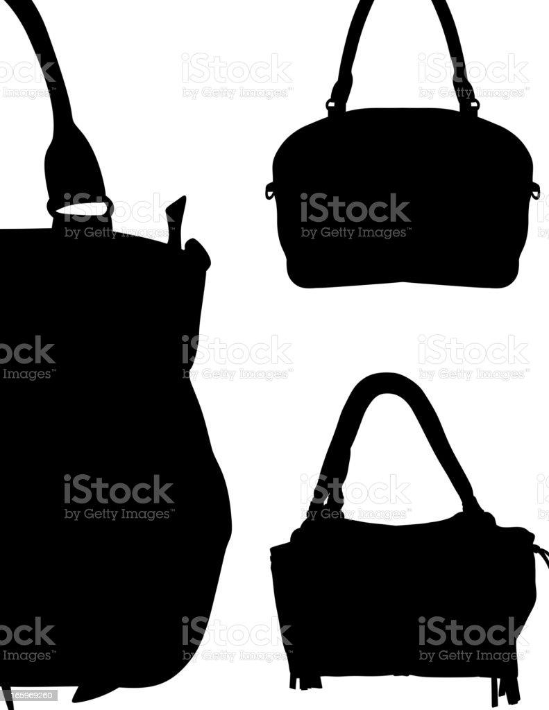 Handbags Silhouette vector art illustration